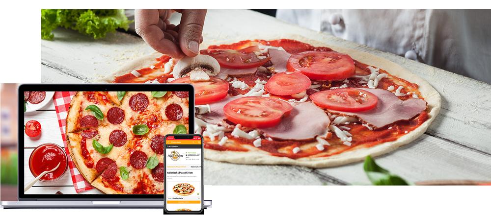 Pizza Shopsystem order smart für lieferservices
