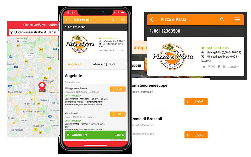 App Shop order smart für lieferdienste