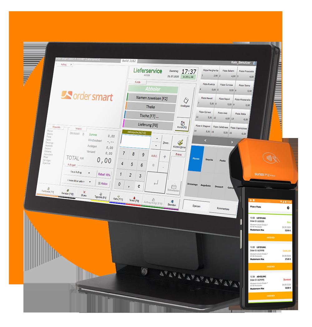 Kassensystem order smart für lieferdienste