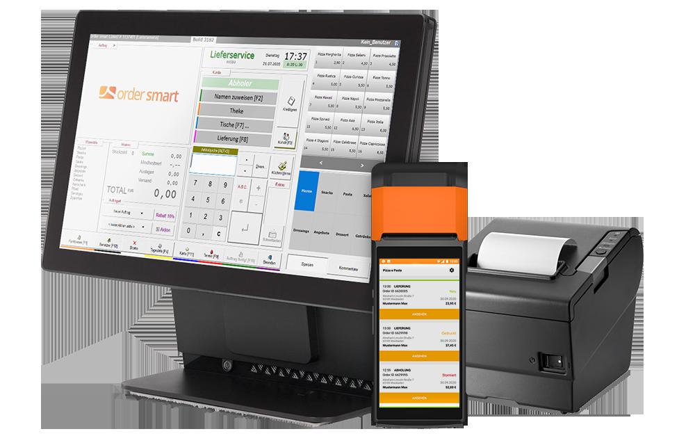 Kassensystem für Lieferdienste order smart