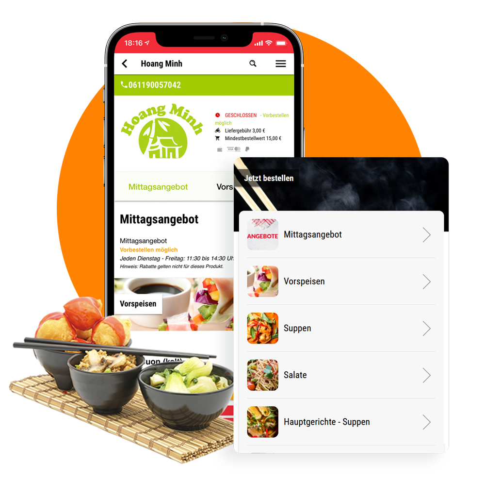 App-Shop für Asia Lieferdienste order smartrt