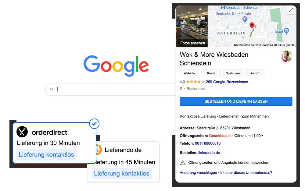 Order with Google order smart