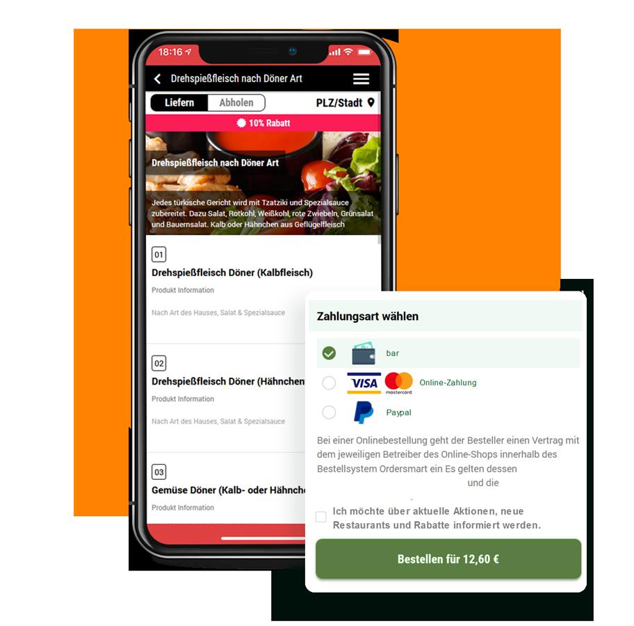 App & Web-Shop für Döner Lieferdienste order smart