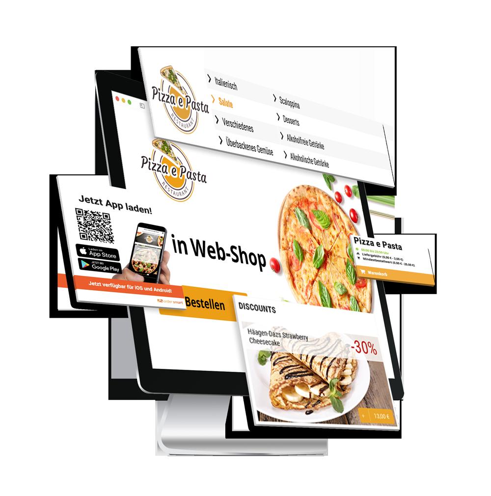 Web Shop order smart für lieferdienste
