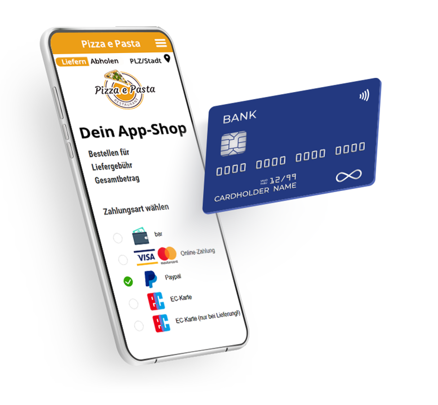 Zahlungsmöglichkeiten order smart für lieferservices