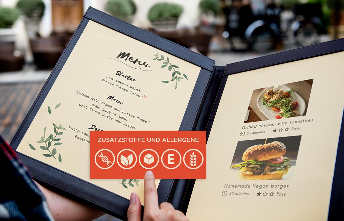 Kennzeichnung von Zusatzstoffen und Allergenen: Pflicht in jeder Speisekarte order smart